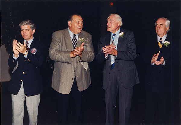 Jackie Keough's representative, Gene Hickerson, Hal Lebovitz, Roger Penske