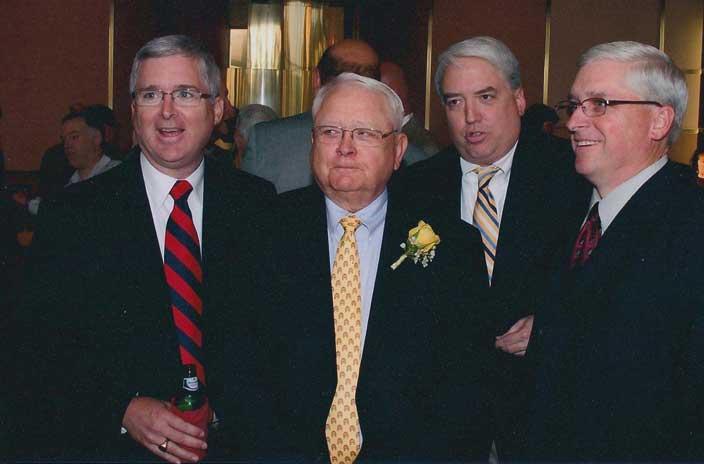 Coach Dick Crum and friends