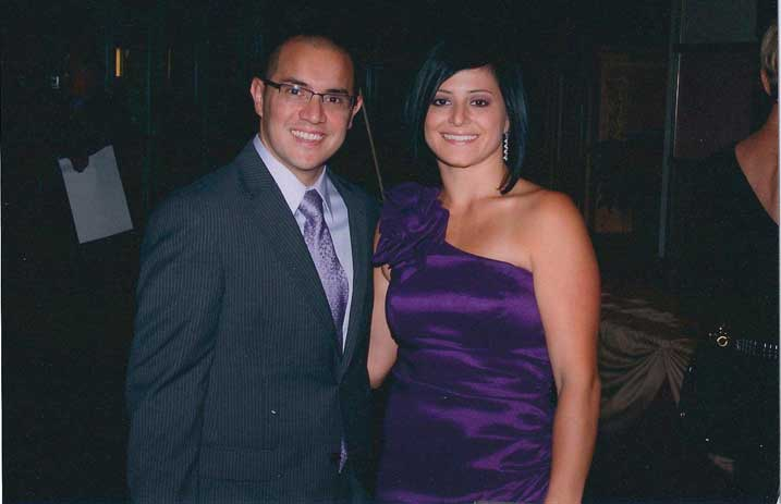 Dominique Moceanu and her husband, Dr. Michael Canales